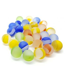 1 Shooter Marble Frosted colors 25 mm Glass Marbles