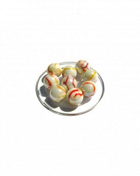 1 Calot Tigre Orange Billes en verre 25 mm