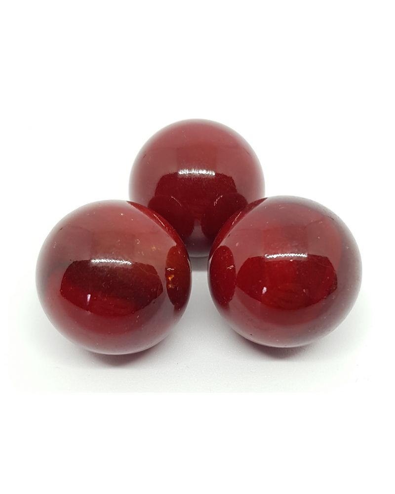 1 Big Red Glossy Marble - 25 mm Glass Marble