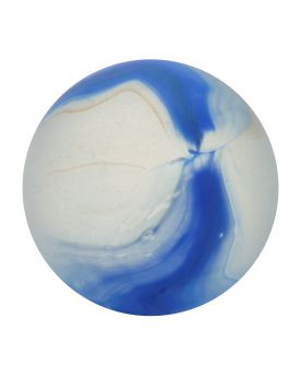 1 Marble Frosted Blue Glass Marble 20 mm