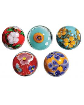 5 Art Marbles - 20 mm Glass Marble - SOLIDAIRE