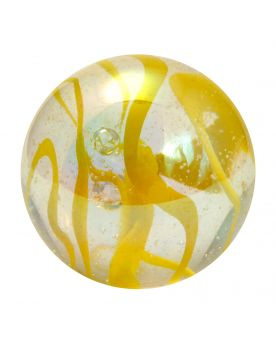 1 Giant Marble Ribbon Yellow 50 mm Glass Marbles