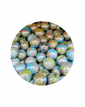 1 Large Marble Storm 35 mm Glass Marbles