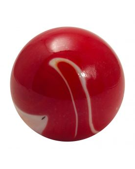 1 Large Marble Bloody Glass Marble 35 mm