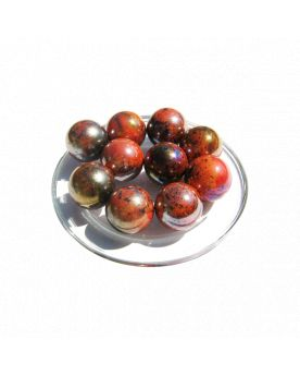 1 Marble Red Planet 16 mm Glass Marbles