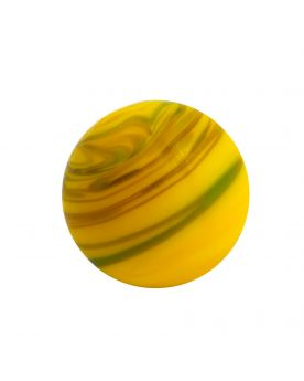 1 Art Marble Yellow Sandstorm Glass Marble 16 mm
