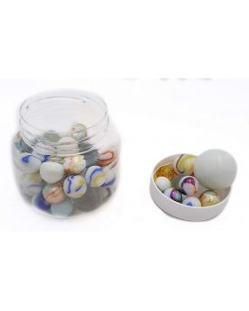 1 white Marbles Titan Jar Glass Marbles 16 mm 25 mm 35 mm
