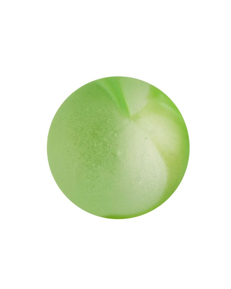 1 Marble Frosted Green Glass Marble 20 mm