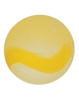 1 Marble Yellow Frosted Glass Marble 20 mm