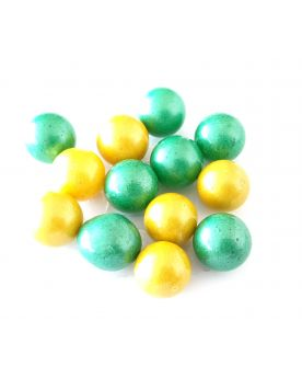 1 Marble Candy Green or Yellow Glass Marble 16 mm
