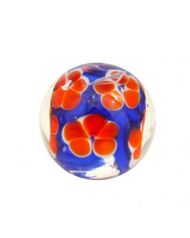 1 Art Marble Flowered Garden Glass Marble 16 mm