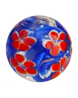 1 Art Marble Flowered Garden Glass Marble 20 mm