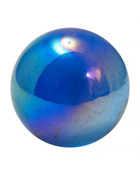 1 big Marble Iridescent Blue  35 mm Glass Marbles