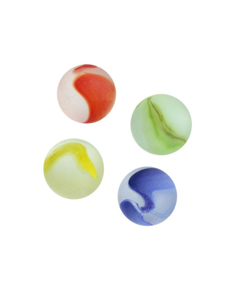 1 Marble Frosted Yellow 16 mm Glass Marbles