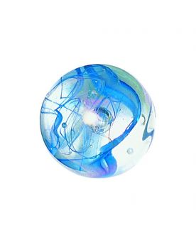 1 King Marble Ribbon Blue 43 mm Glass Marbles