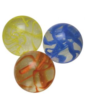 1 King Marble Ribbon Yellow 43 mm Glass Marbles