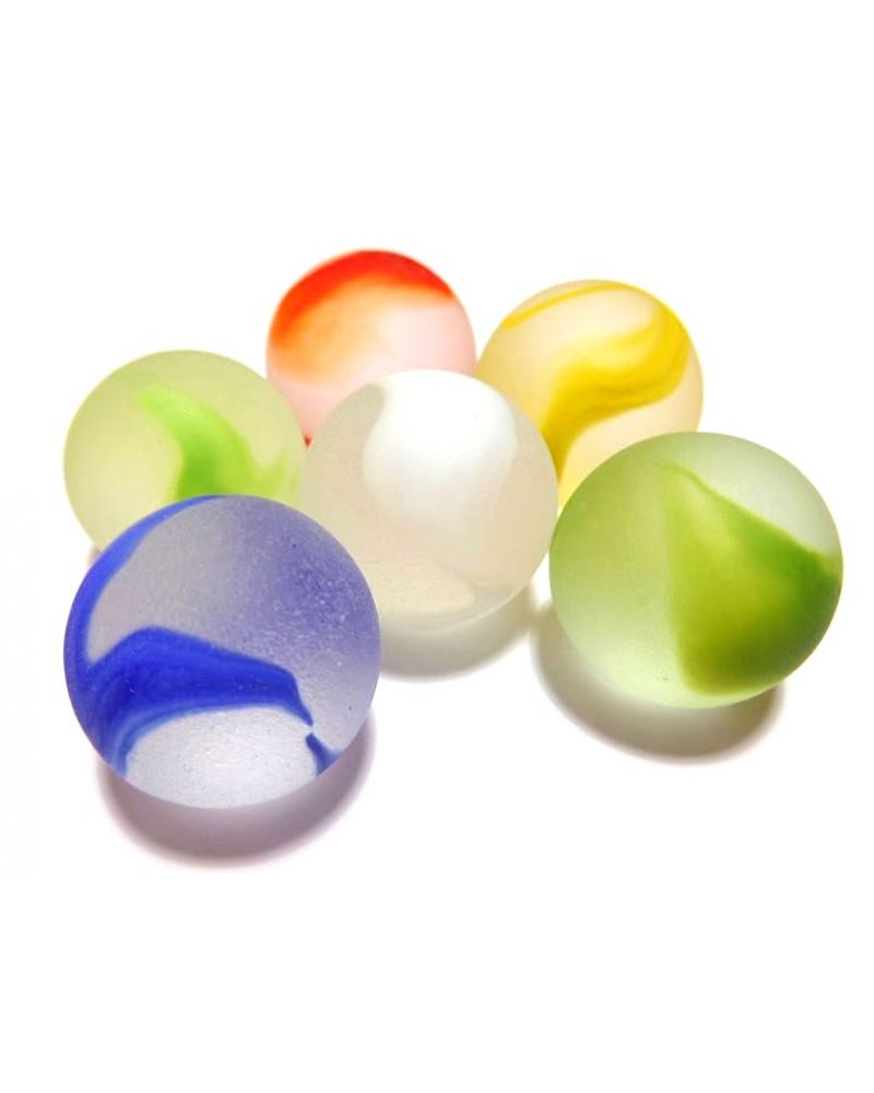 1 big Marble Frosted colors 20 mm Glass Marbles