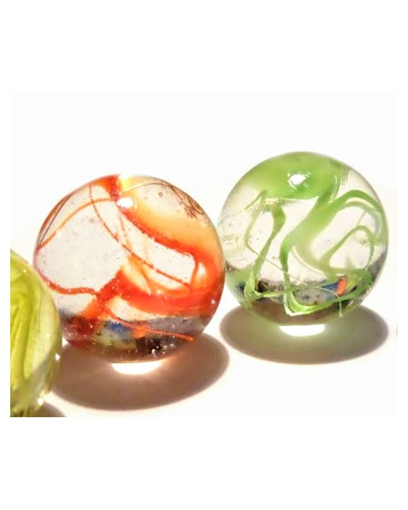 1 King Marble Ribbon Green 43 mm Glass Marbles