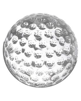 1 Golfball Murmeln Glas Art Marble 50 mm