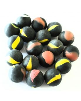 1 Marble Black Frosted 16 mm Glass Marbles