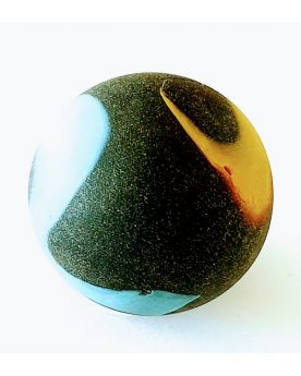 1 Big Black Frosted Marble - 25 mm Glass Marble
