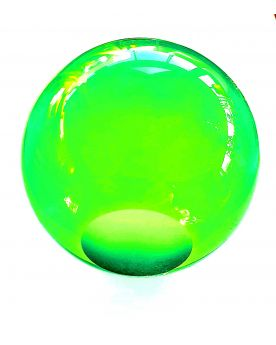 1 Green Lens Art Marble - 9 cm Glass Marble