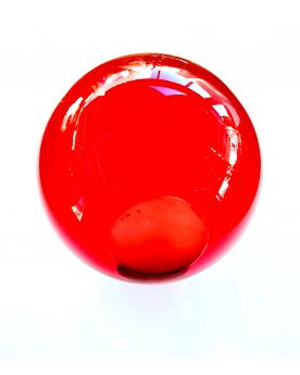 1 Red Lens Art Marble - 8cm Glass Marble