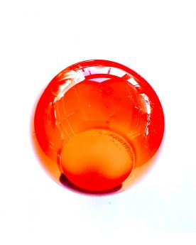 1 Bille d'Art Orange Loupe - Bille en Verre 6 cm