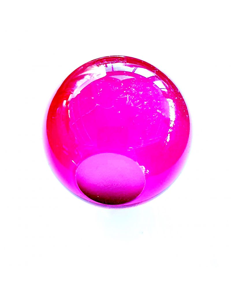 1 Pink Lens Art Marble - 6 cm Glass Marble