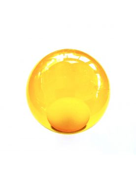 1 Yellow Lens Art Marble - 6 cm Glass Marble
