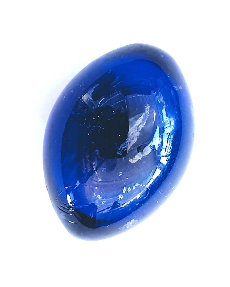 1 Rugby Shaped Dark Blue Marble - 3x2cm Glass Marble