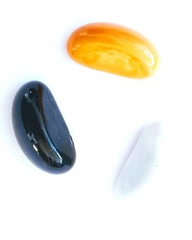1 Random Pod Shaped Marble - 25x15 mm Glass Marble
