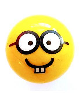 1 Big Smiley Glasses Marble - 25 mm Glass marble