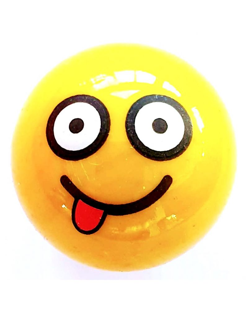 1 Big Clown Smiley Marble - 25 mm Glass Marble