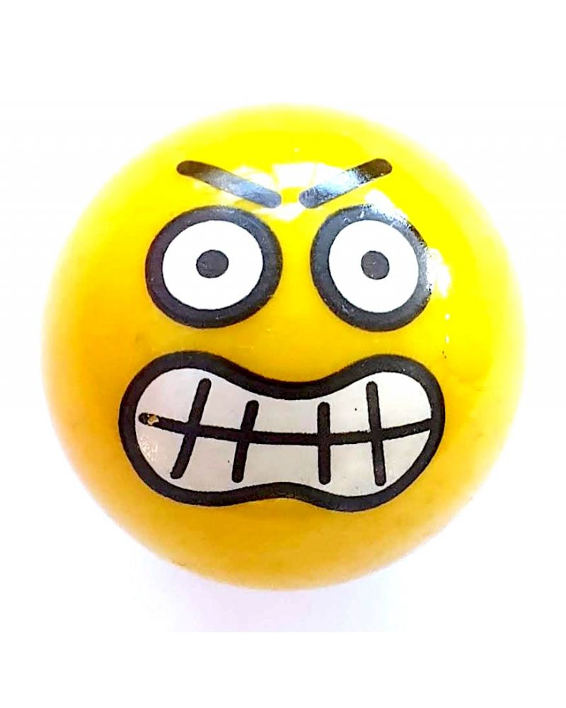 1 Big Furious Smiley Marble - 25 mm Glass Marble