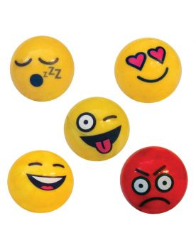 1 Big Random Smiley Marble - 25 mm Glass Marble - SOLIDAIRE