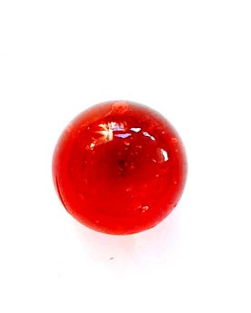 1 Small Red Lens Marble - 16 mm Glass Marble