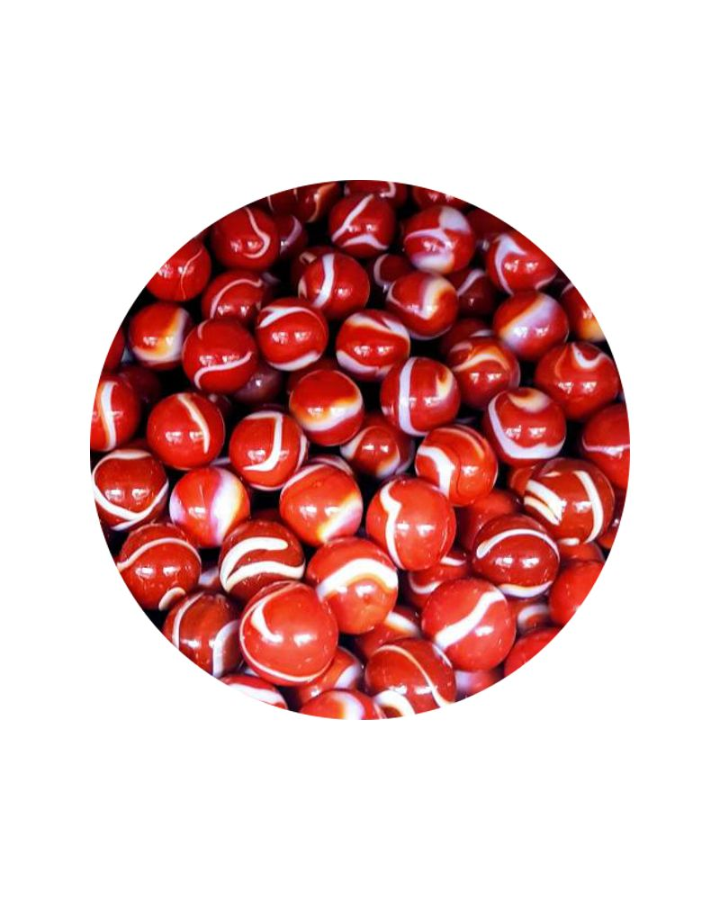 1 big Marble Bloody  20 mm Glass Marbles