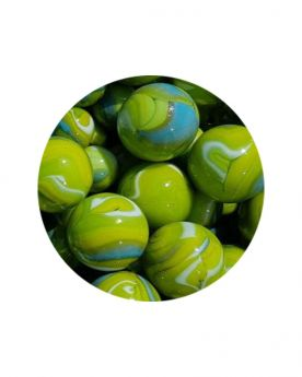 1 Marble Green Tiger 16 mm Glass Marbles