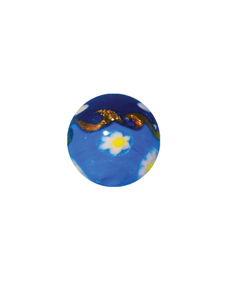1 Art Marble Hokusai Blue Glass Marble 16 mm