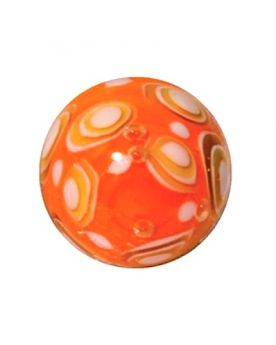 1 Art Marble Bubble Orange Glass Marble 16 mm