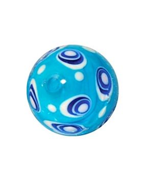1 Art Marble Bubble Blue Glass Marble 16 mm