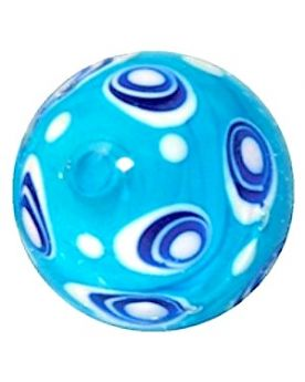 1 Art Marble Bubble Blue Glass Marble 22 mm