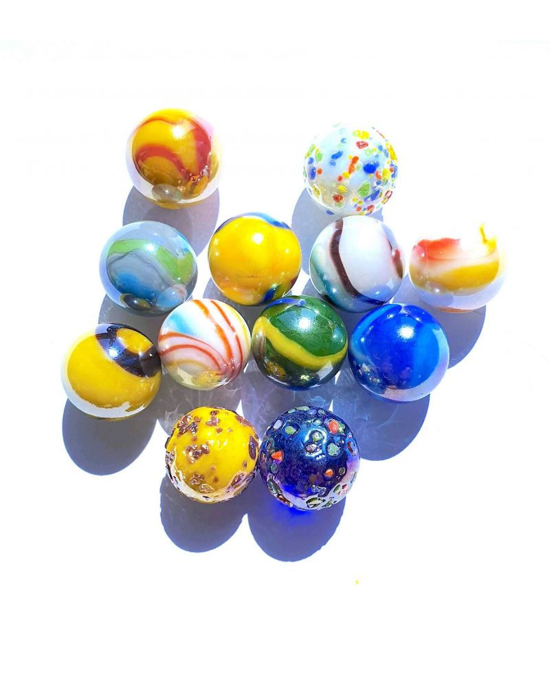 12 Star Glass Marbles - SOLIDAIRE
