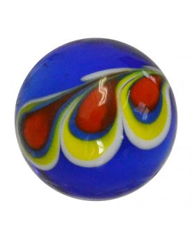 1 Art Marble Paon Bleu Glass Marble 16 mm