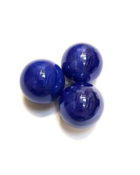 1 Big Blue Glossy Marble - 25 mm Glass Marble