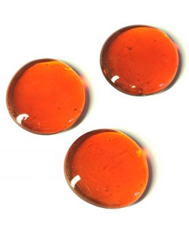1 Grande Orange Billes Loupe plates en verre 30 mm