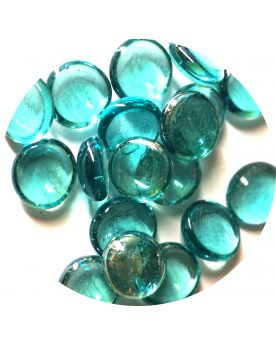 1 Flat Marble Aqua 18 mm Flat Glass Marbles