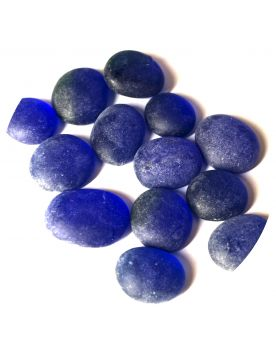 1 Flat Marble Frosted Blue 18 mm Flat Glass Marbles