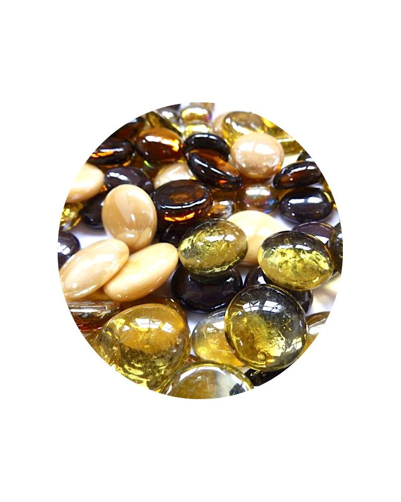 1 Flat Marble Or Mixed 18 mm Flat Glass Marbles